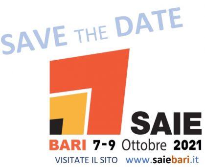 save the date SAIE2BARI2021